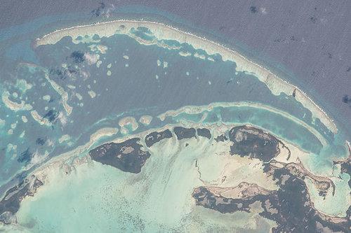 Los Roques, Venezuela. Imagen capturada desde la Estación Espacial Internacional el 16 de Febrero de 2016. Autor: astronauta Tim Kopra/ NASA.