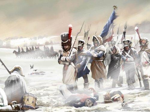 Napoleón en Rusia.