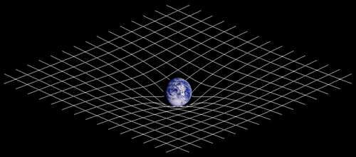 La materia deforma el «tejido» del espacio-tiempo.