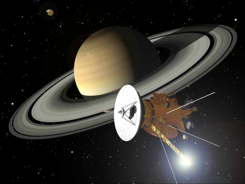 Cassini, representación artística de la NASA.
