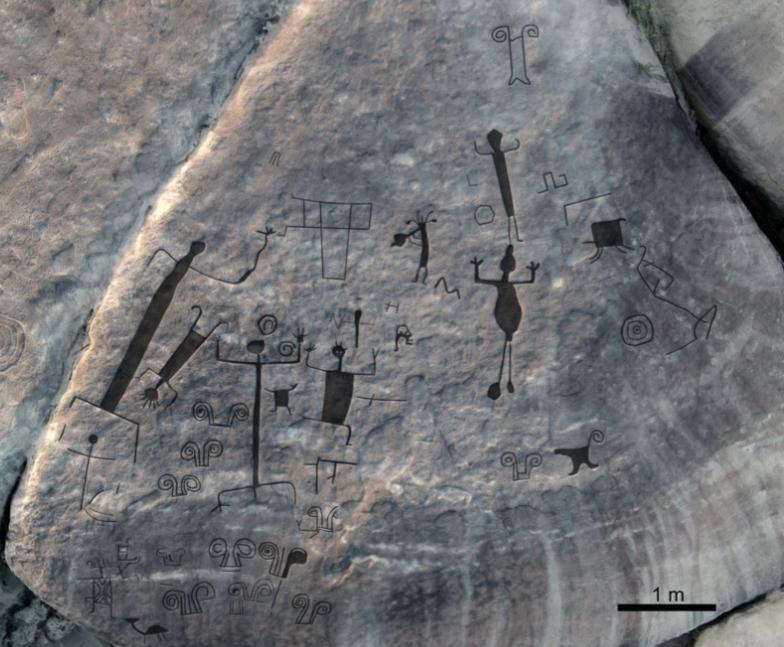 Nuevos petroglifos encontrados en a orillas del río Orinoco.